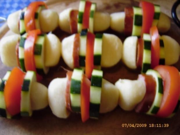 Kartoffelkloss - Spiesse vom Grill - Rezept - Bild Nr. 9