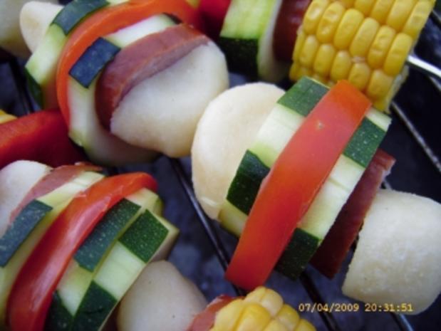 Kartoffelkloss - Spiesse vom Grill - Rezept - Bild Nr. 19