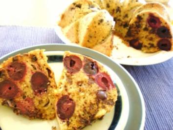 KUCHEN: Kirschen-Schoko-Nuss-Kuchen - Rezept