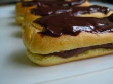 Éclairs mit Schokoladenmousse - Rezept