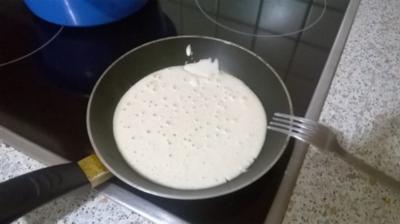 Sehr einfacher Pfannkuchen ohne Ei - Rezept
