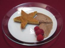 White Brownie in einem Bett aus Mousse au Chocolat - Ein Amerikaner in Paris - Rezept