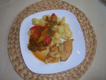 Paprikasoße mit marinierter Putenbrust und Gnocchi - Rezept