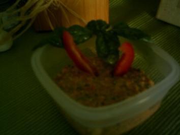 Leckerer Brotaufstrich **Paprika trifft Ricotta und Basillikum - Rezept