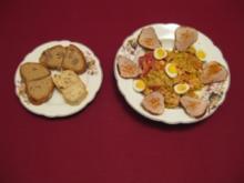 Gemischter Salat mit Schweinefilet-Chips an Cocktail-Sahnedressing - Rezept