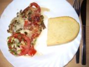 Fl/Schwein: Minutenschnitzel -Tomate-Mozarella - Rezept