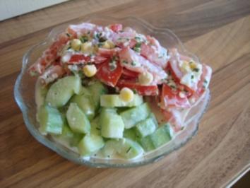 Salate - Gurkensalat mit Landrahm - Rezept