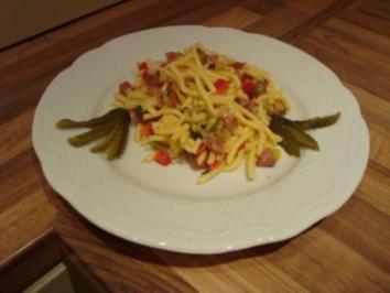 Nudelgericht - Spätzlesalat mit Kabanossi - Rezept