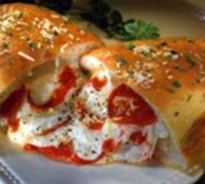Rezept: Calzone Schinken, Mozzarella und Ricotta