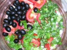 Sardischer Kartoffelsalat (z.B. mit Fleischspießen oder mit gebratenen Fischfilets (lecker, leichte Sommerküche) - - Rezept