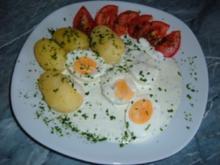 Eier in Kräutersauce - Rezept