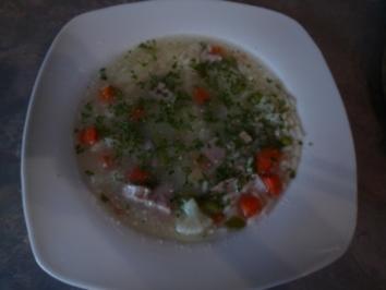 Rezept: Gemüsesuppe mit Reis