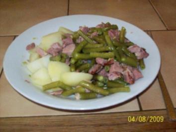 grüne Bohne mit Kasseler - Rezept