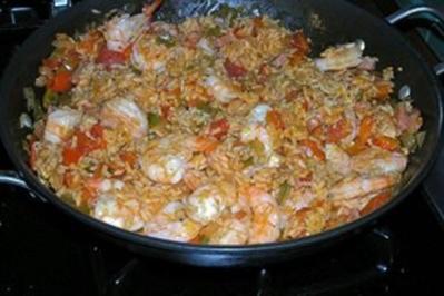 Jambalaya mit Garnelen und Huhn - Rezept