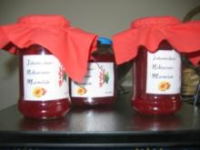 Johannisbeer-Nektarinen-Marmelade mit Creme de Cassis - Rezept