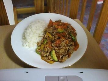 Hack-Gemüse-Pfanne - Rezept