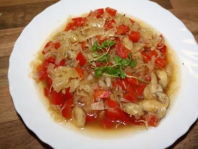 Sauerkrautsuppe (scharf) - Rezept