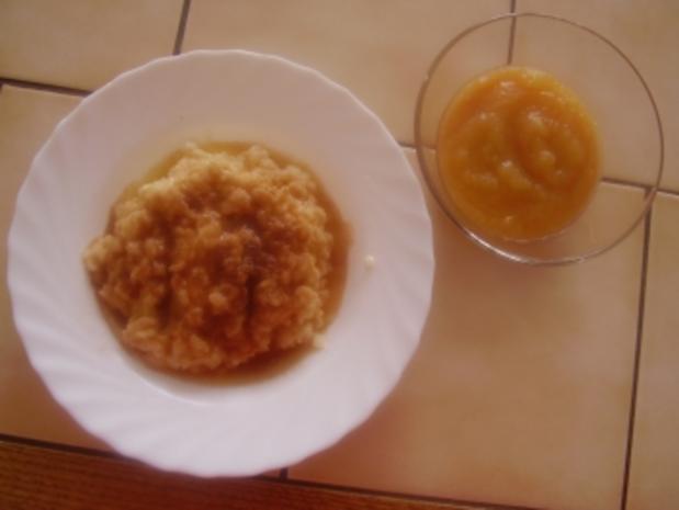 Milchreis - Zimtzucker - braune Butter- Apfelmus - Rezept