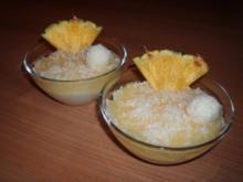 Kokos-Creme mit Ananaspüree - Rezept