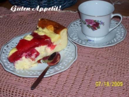 Kuchen - Käsekuchen ohne Boden ... - Rezept