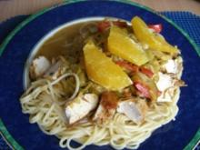 Spaghetti mit Hähnchenbrust - Rezept