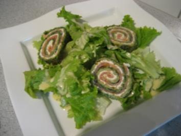 Spinat - Lachs - Rolle - Rezept