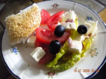 Rezept: Tomatensalat griechische Art