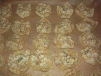 Blätterteig mit Schmand-Zwiebeln - Rezept