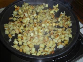 """Kartoffel- Inges """"Rohgerösteste Kartoffelpfanne""""  mit Knobi - Rezept"""