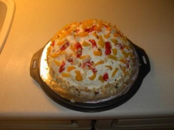 Pfirsich - Erdbeer - Torte - Rezept