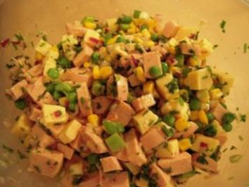 Wurst-Käse-Salat - Rezept