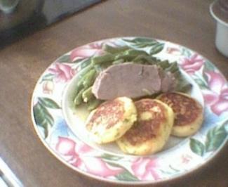 Rezept: Grüne Bohnen mit Rindfleisch und Kartoffeltaler