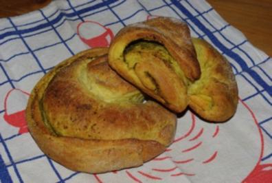 Pestobrot-Schnecken - Rezept
