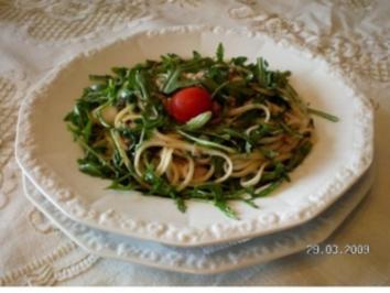 Spagetti mit Sardinen und Rucola - Rezept