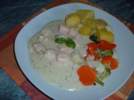 Fisch : Lachsfilet in Dillsoße - Rezept