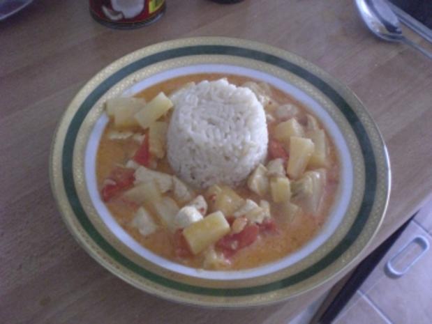 Ananas Hühnchen Curry - Rezept