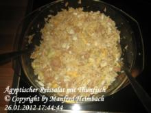 afrikanisch - Ägyptischer Reissalat mit Thunfisch - Rezept