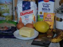 Waffeln - Bananenwaffeln mit heißer Schokoladensoße - Rezept