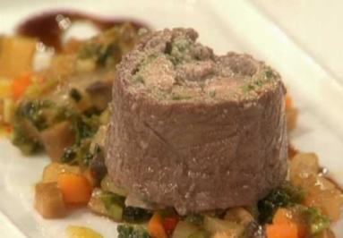 Rinderroulade in Curry auf Gemüsebett a la Stromberg - Rezept