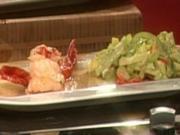 Gambas Carabiniera mit Sauce La Rouille auf Salatbouquet (Tony Marshall) - Rezept