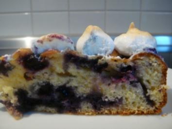 Kuchen: Heidelbeerkuchen mit Baiserhaube - Rezept