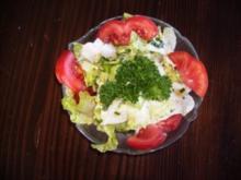 Grüner Salat frisch aus dem Garten - Rezept