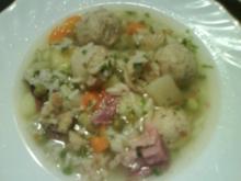 Reissuppe mit Semmelklößchen - Rezept