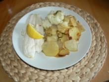 Naturbelassenes Pangasiusfilet  auf Gemüsebett - Rezept
