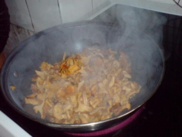 Überbackene Pilze - Pfifferlinge - Rezept - Bild Nr. 7