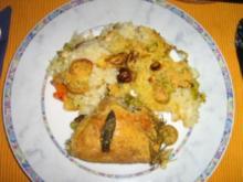 Salbei-Hähnchen-Gemüserisotto-Pfanne - Rezept