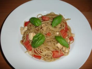 Warmer Spaghetti- Tomatensalat - Rezept