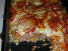 Hackfleisch- Pizza - Rezept