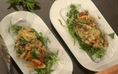 Antipasto fritato auf mariniertem Rucolabett (Erika Berger) - Rezept