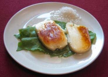 Rezept: Halloumi in einer Salz-Honig-Lake und Sauerampfer